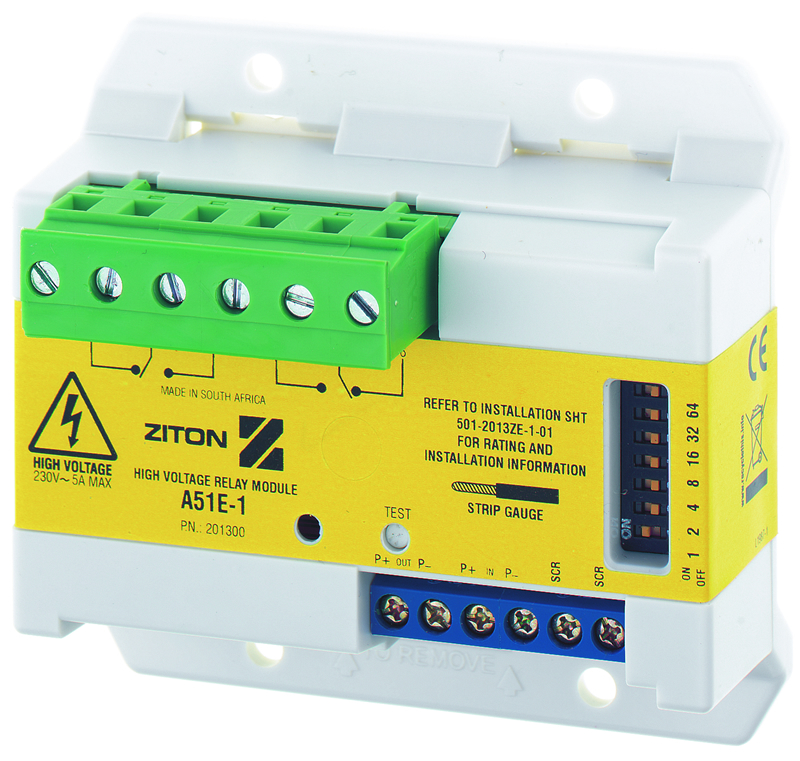 Ziton A Series mini relay unit, mains switching